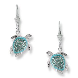 Sea Turtle Wire Earrings