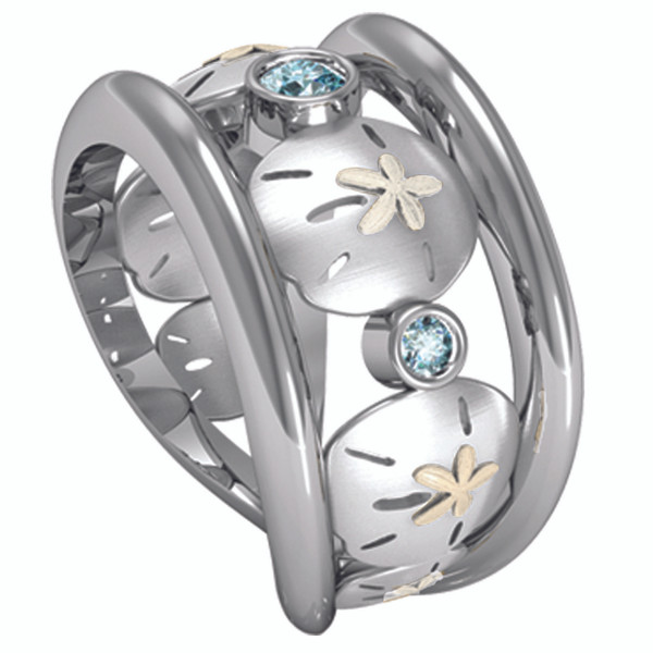Sea Mist Sand Dollar Ring