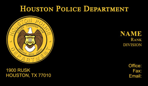 Houston police department business cards hpd business card 10 quick view reheart Images