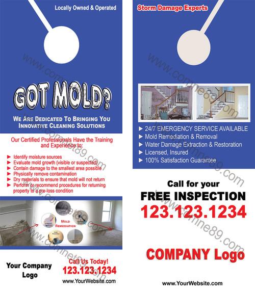 Mold Remediation Door Hanger 01