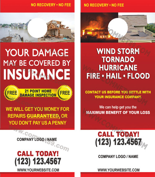 Insurance Adjuster Door Hanger 01