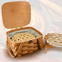 "Peterboro Pie/Cake Carrier with Mint Green ""Wipeout"" Liner"