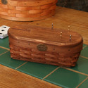 Peterboro Cribbage Game Board and Basket