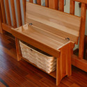 Peterboro Furniture Quality Storage Bench and Baskets