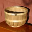 Two Oxford-style bushel baskets