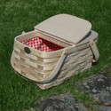 Peterboro Deluxe Twin Split Lid Picnic Storage with Liner