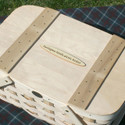Peterboro Slatted-Lid Picnic Basket with Tray