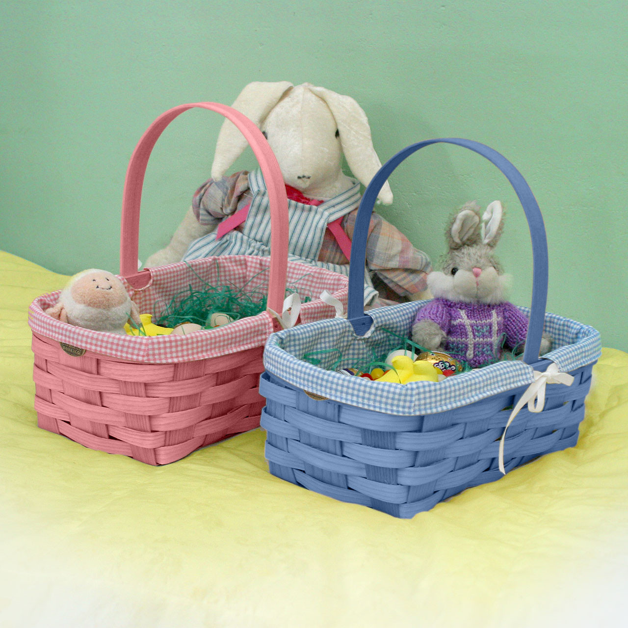 Peterboro quality easter and newborn gift basket w liner peterboro quality easter and newborn gift basket with liner negle