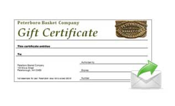 Gift Certificate - Electronic