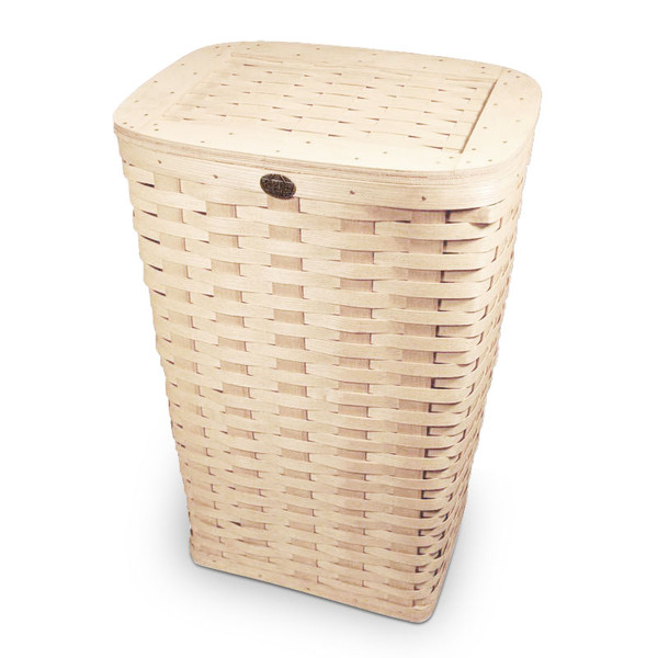 ... Peterboro Tall Waste Basket / Laundry Hamper with Woven Lid