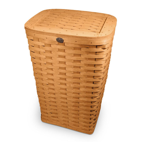 Peterboro Tall Waste Basket / Laundry Hamper with Woven Lid