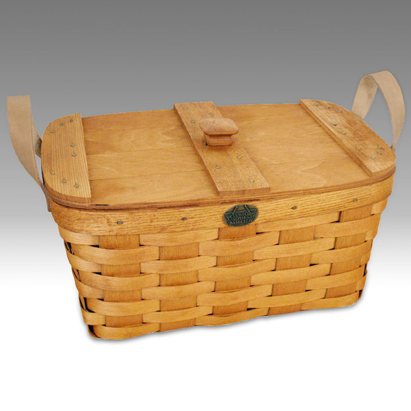 Peterboro Deluxe Country Slatted Storage Basket