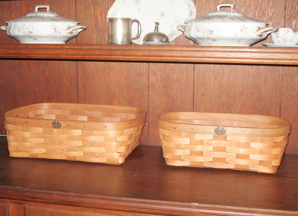 Peterboro Set of Two Oval Bookcase / Storage Baskets