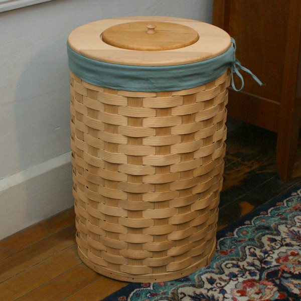 Peterboro Tall Round 13-Gallon Trash Basket / Laundry Hamper