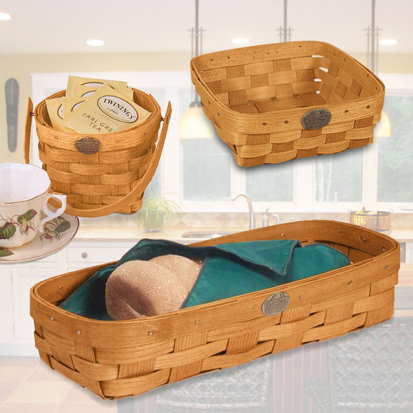 Peterboro In-the-Kitchen Practical Basket Set
