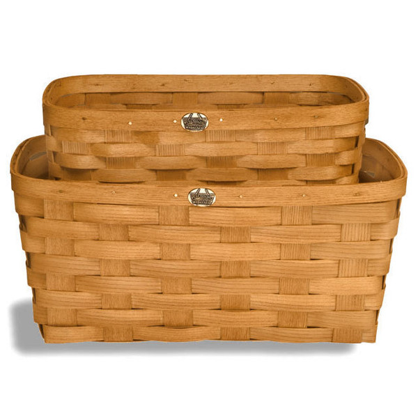 Peterboro Set of Two Everyday-Use Rectangle Storage Baskets