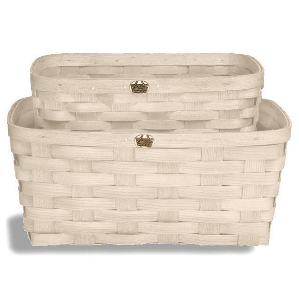 sc 1 st  Peterboro Basket & Peterboro Set of Two Everyday-Use Rectangle Storage Baskets