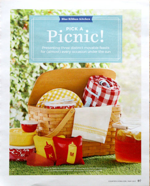 Country Living magazine features Peterboro Traditional Picnic Basket