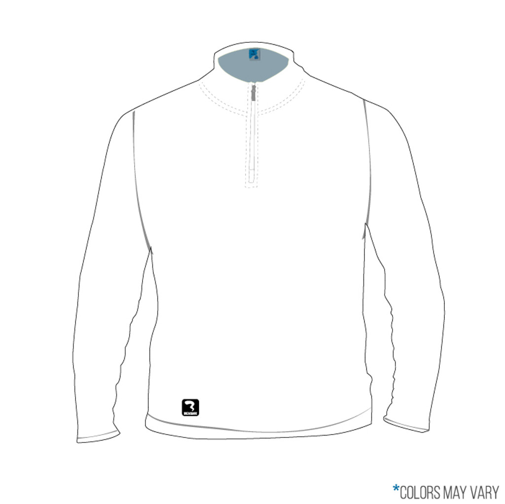 Breakmark Screen Print Quarter Zip Front Light