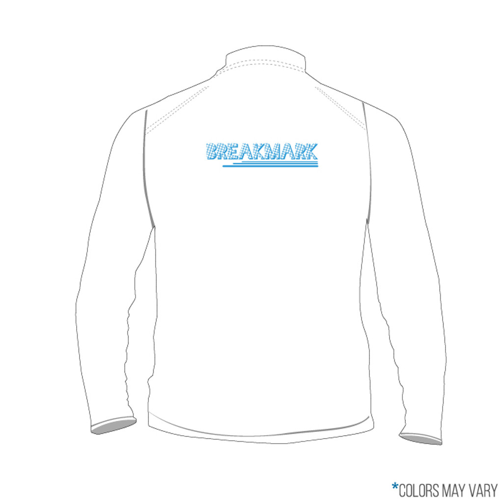 Breakmark Screen Print Quarter Zip Back Light