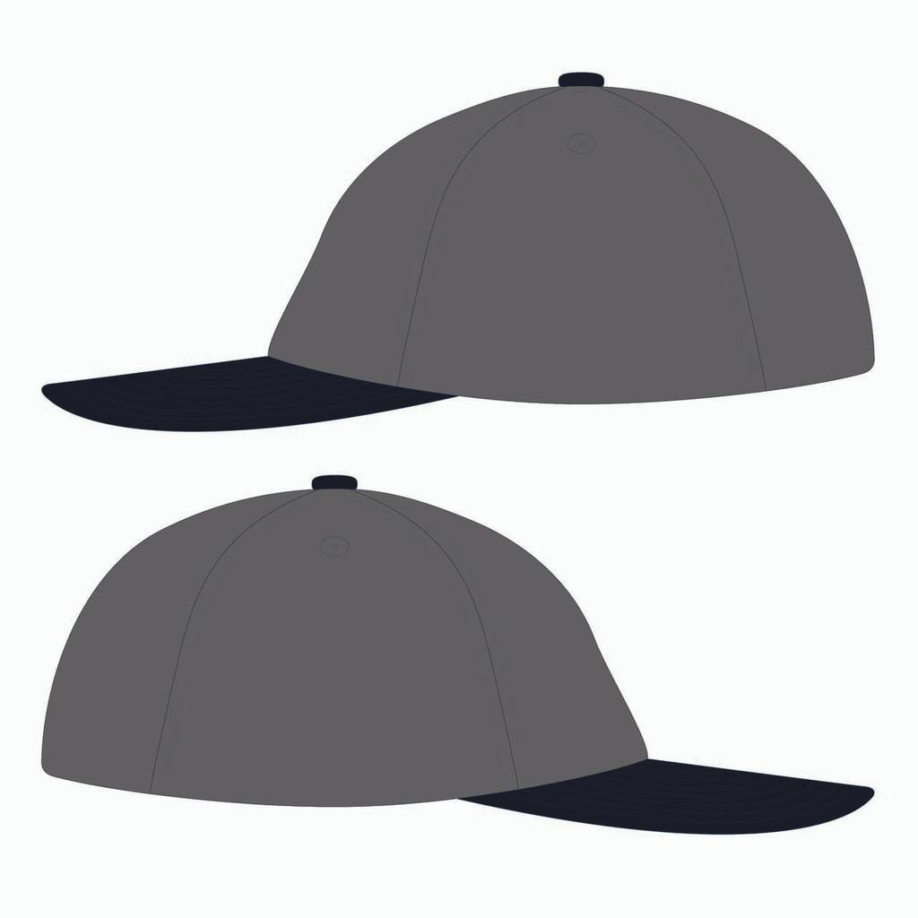 Sides of grey baseball hat.