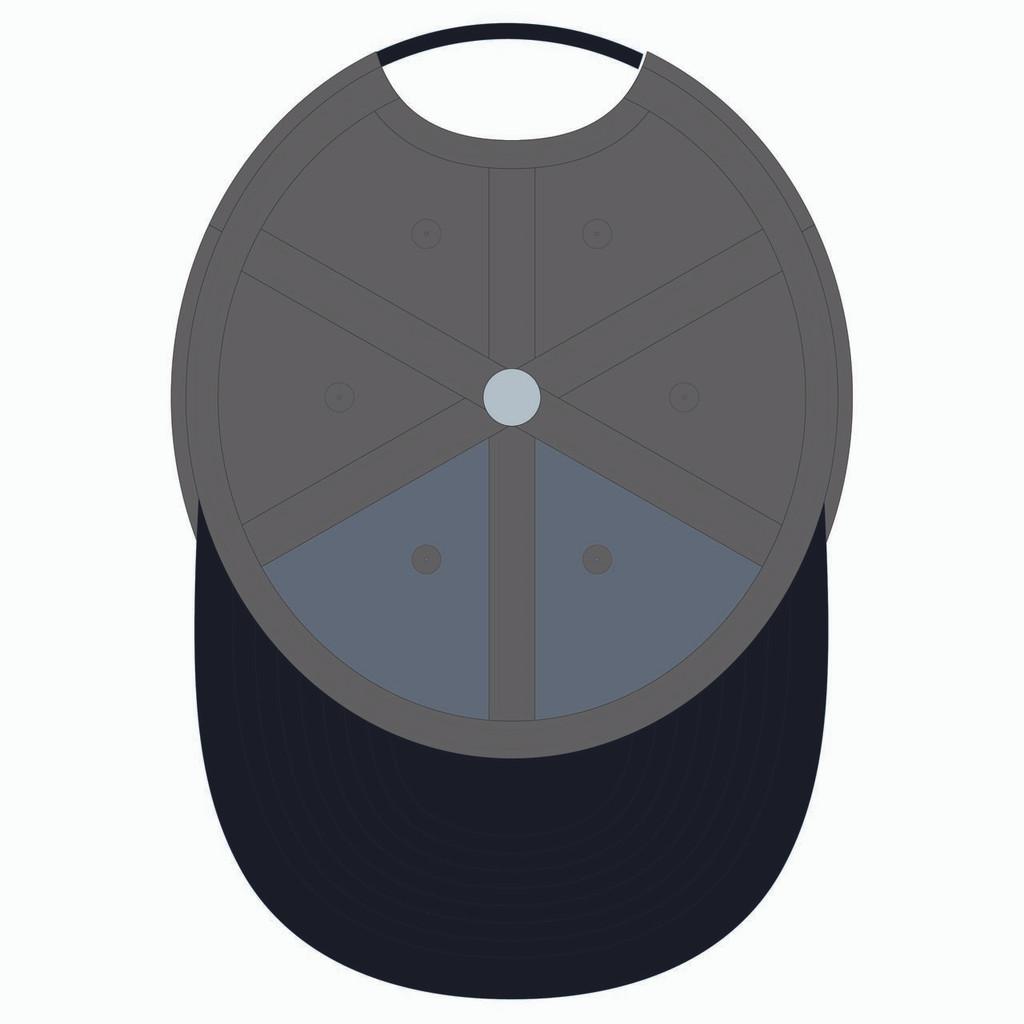 Underneath of grey baseball hat.
