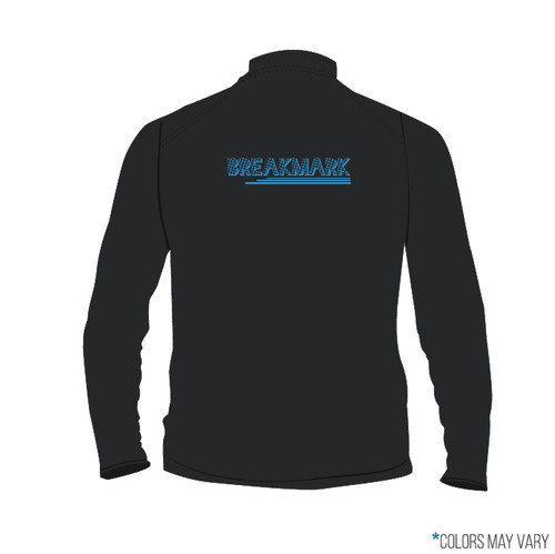 Breakmark Screen Print Quarter Zip Back Dark