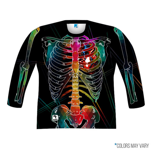 Black Skeleton Long Sleeve Front