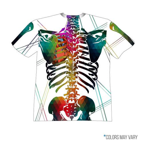 White Skeleton Short Sleeve Back