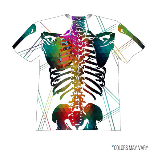 White Skeleton Short Sleeve Back