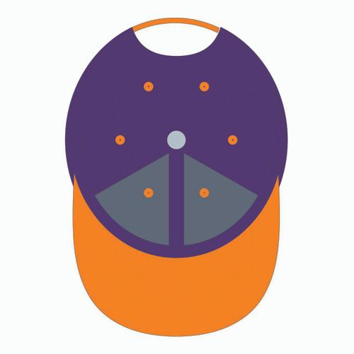 Underneath of 90s Throwback Orange/Purple Design