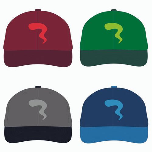 All four baseball hats in one view!