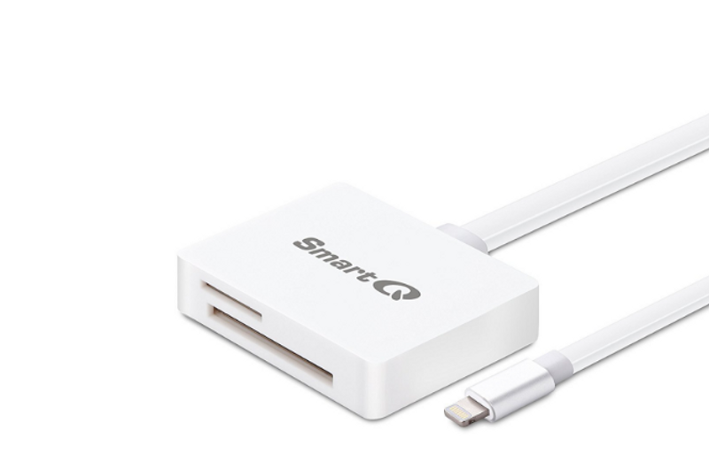 Our SmartQ C608 lightning card reader is specially designed for iOS devices and features official Apple MFi certification as a fully licensed product.