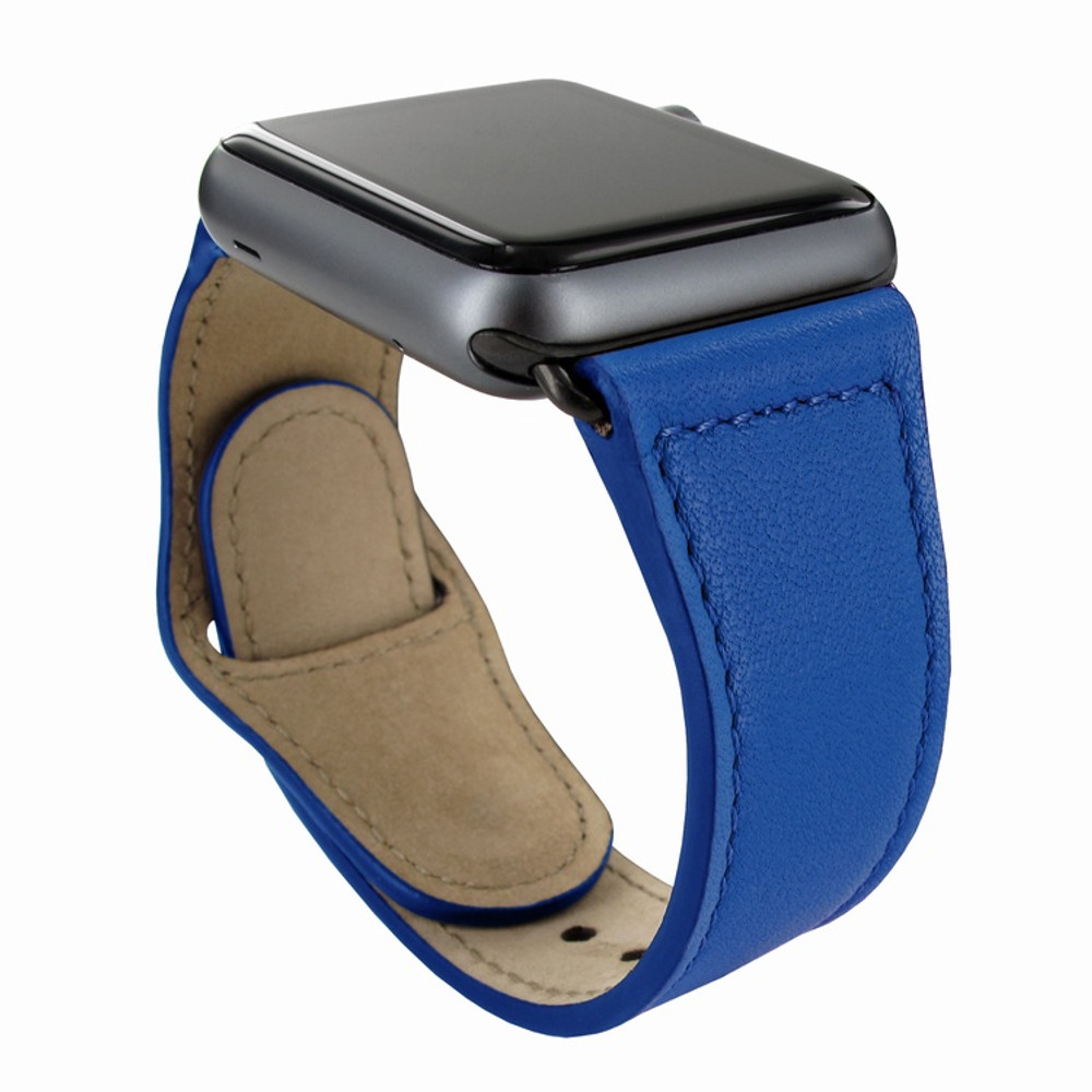 Piel Frama Apple Watch 38 mm Leather Strap - Blue / Black Adapter