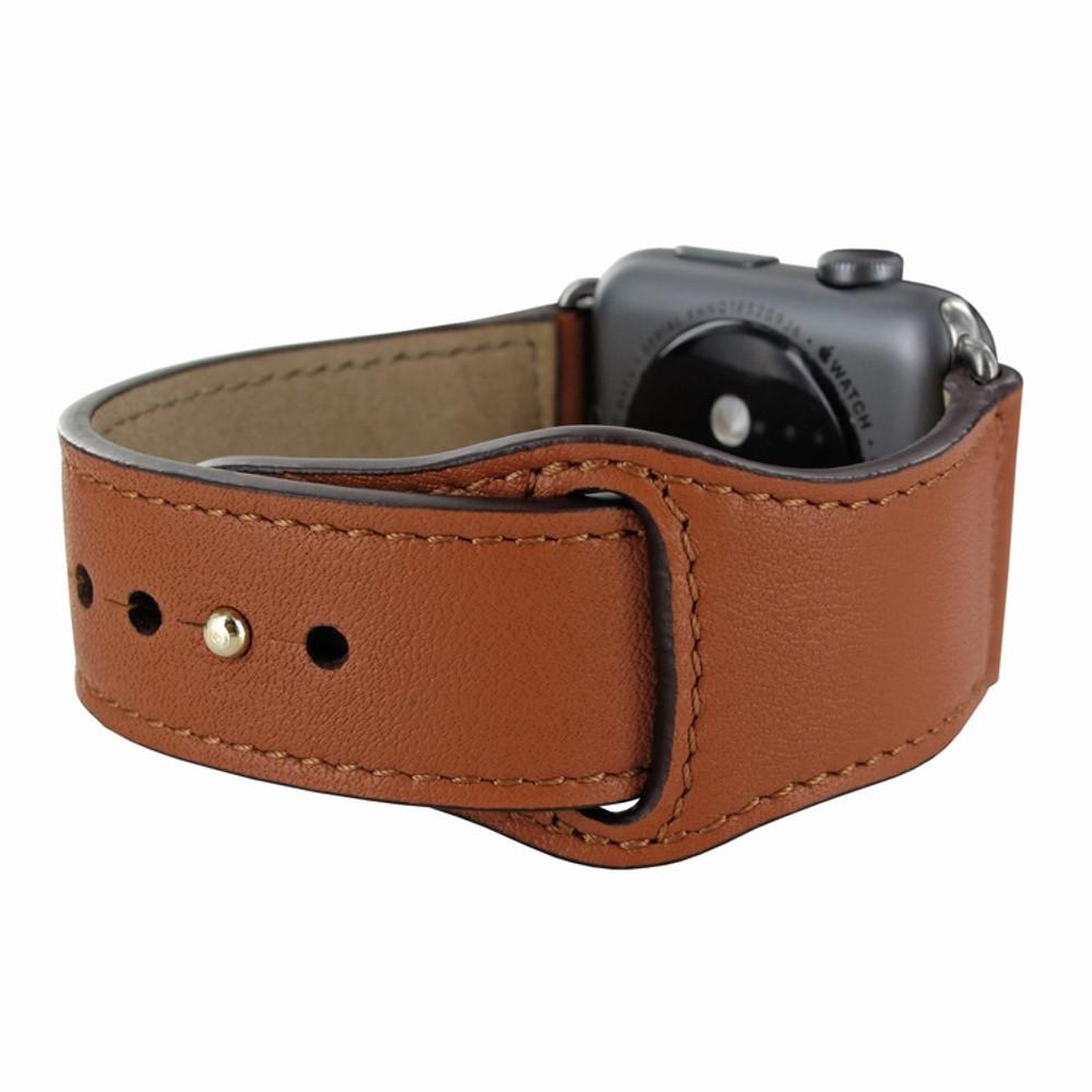 Piel Frama Apple Watch 38 mm Leather Strap - Tan / Silver Adapter