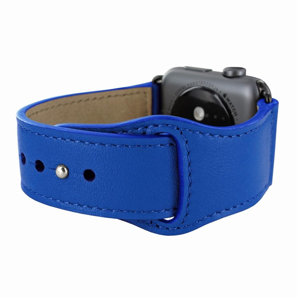 Piel Frama Apple Watch 42 mm Leather Strap - Blue / Black Adapter