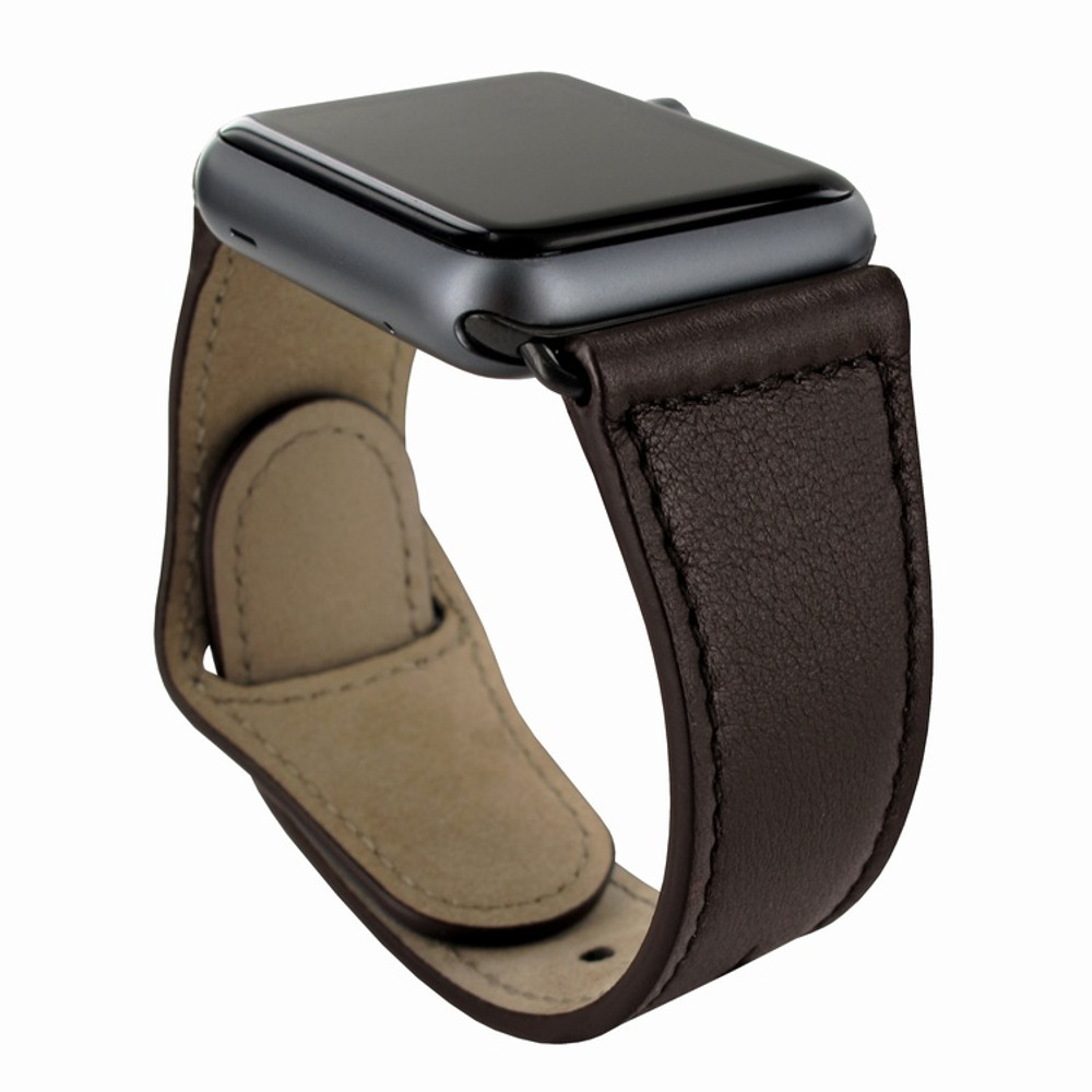 Piel Frama Apple Watch 42 mm Leather Strap - Brown / Black Adapter