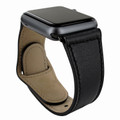 Piel Frama Apple Watch 38 mm Leather Strap - Black / Black Adapter
