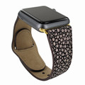 Piel Frama Apple Watch 38 mm Leather Strap - Brown Cowskin-Stingray / Gold Adapter