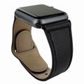 Piel Frama Apple Watch 42 mm Leather Strap - Black / Black Adapter