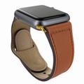 Piel Frama Apple Watch 42 mm Leather Strap - Tan / Gold Adapter