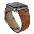 Piel Frama Apple Watch 42 mm Leather Strap - Tan Cowskin-Ostrich / Gold Adapter