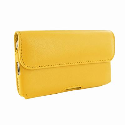 Piel Frama iPhone 6 Plus / 6S Plus / 7 Plus / 8 Plus Horizontal Pouch Leather Case - Yellow