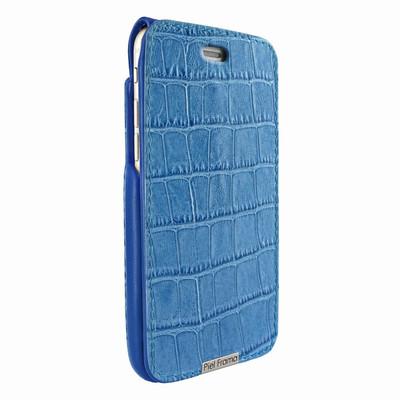 Piel Frama iPhone 6 Plus / 6S Plus / 7 Plus / 8 Plus UltraSliMagnum Leather Case - Blue Cowskin-Crocodile