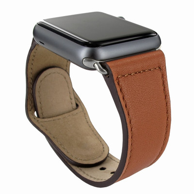 Piel Frama Apple Watch 38 mm Leather Strap - Tan / Silver Adapter