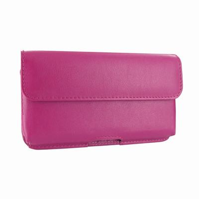 Piel Frama iPhone X Horizontal Pouch Leather Case - Fuchsia