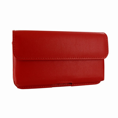 Piel Frama iPhone X Horizontal Pouch Leather Case - Red