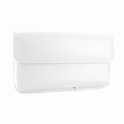 Piel Frama iPhone X Horizontal Pouch Leather Case - White