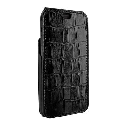 Piel Frama iPhone X iMagnum Leather Case - Black Cowskin-Crocodile