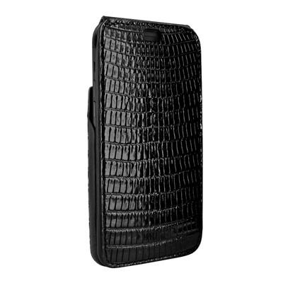 Piel Frama iPhone X iMagnum Leather Case - Black Cowskin-Lizard